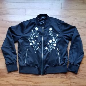 Like New a.n.a. Embroidered Bomber Jacket